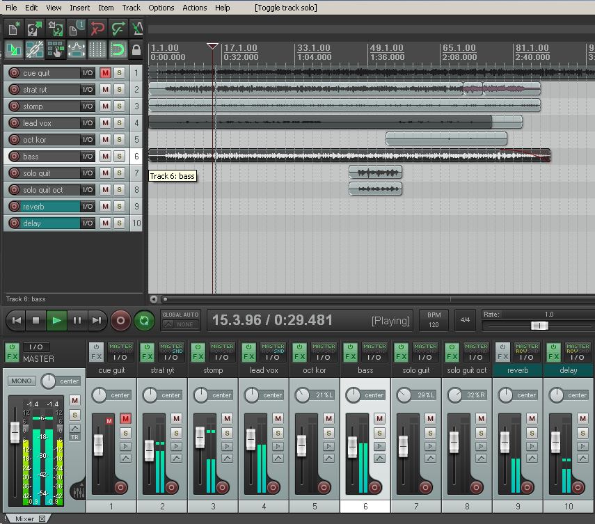 How to fake a bass guitar sound in Reaper with just an